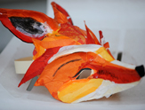 Commedia dell'arte masks. Foxy mask.